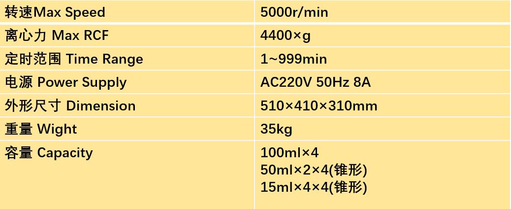 北京时代北利DT5-2B离心机转子参数