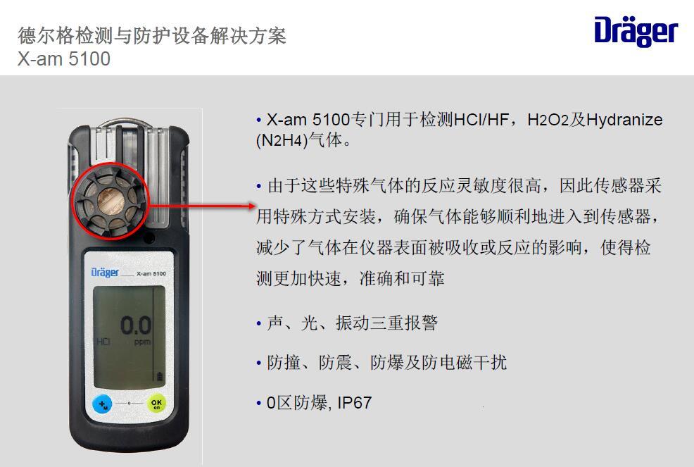 德尔格X-AM5100过氧化氢检测仪